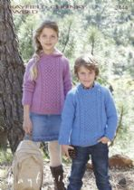 Hayfield Chunky Tweed Knitting Pattern - 2444 Sweaters